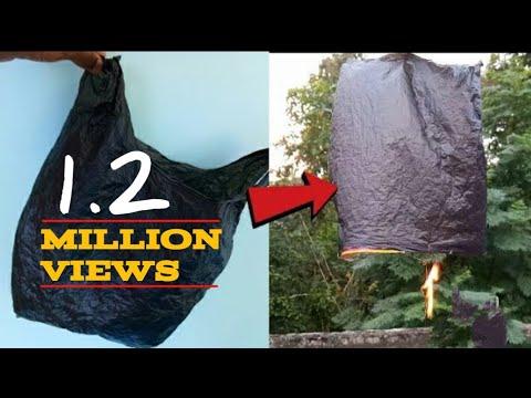 How to make Fire parachute Newspaper अख़बार से उड़ने वाला गुब्बारा बनाये in hindi
