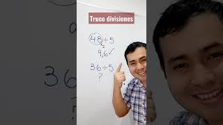 TRUCO PARA DIVIDIR ENTR 5   TRUCO MATEMÁTICO