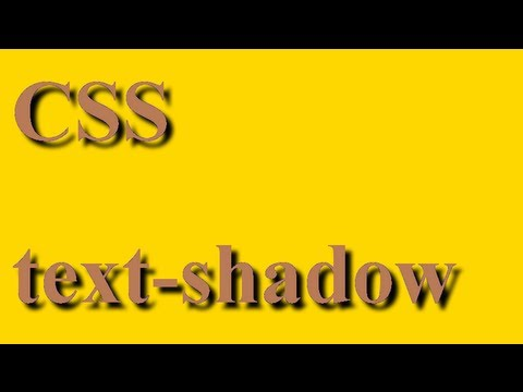 CSS how to: text-shadow