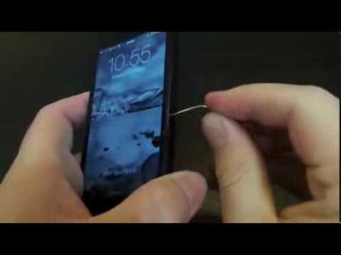 iPhone 5 International SIM Card Setup