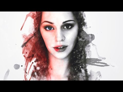 Photoshop Tutorial | Paint Splatter photo Effect