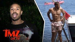 Michael B. Jordan Shirtless Boat Ride in Italy | TMZ TV