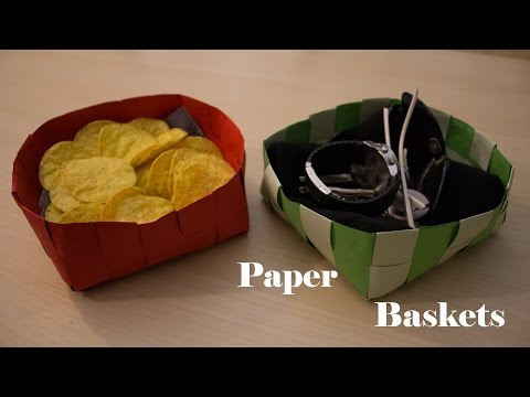 Paper basket with colored pieces of paper DIY bowl- 2nd day of Christmas decor