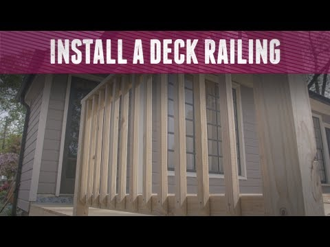 How to Install a Deck Railing - DIY Network