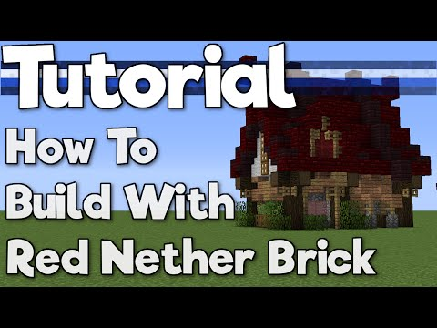 Minecraft 1.10: How to Build with Red Nether Brick! [Tutorial]