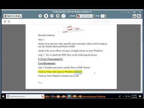 Fix Microsoft Print PDF Not Working issue on Windows 10