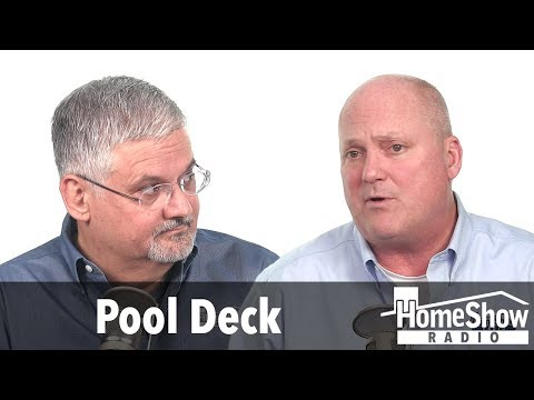 What pool deck would be friendliest on our feet?