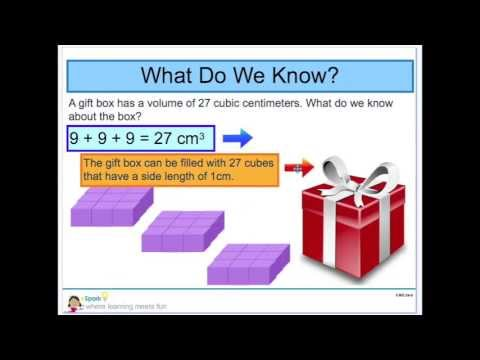 eSpark Learning: Measuring Volume by Counting Unit Cubes Instructional Video (5.MD.3ab)