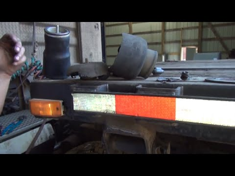 Volvo Vnl sleeper cab air bag replacement