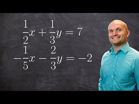 How to Solve a System of Equations Using Elimination with Fractions