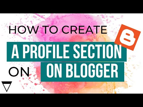 How to Create a Profile Section on your Blog in Blogger - 2013 [part 3]