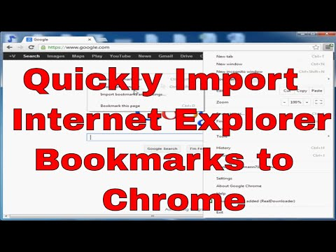 How to import favorites from IE to Chrome