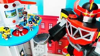 Paw Patrol vs Megazord बच्चों के लिए शैक्षिक खिलौना वीडियो!