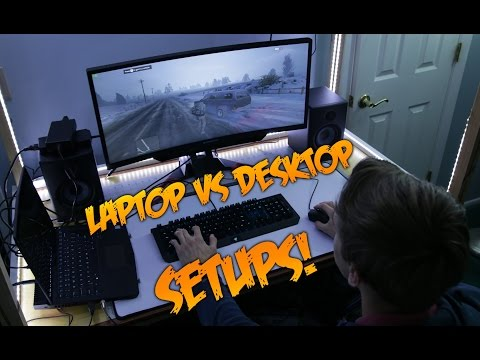 Gaming Laptop vs Gaming Desktop Setups!