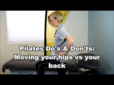 Pilates Do's & Don'ts: How to feel the difference between moving your pelvis & your hips
