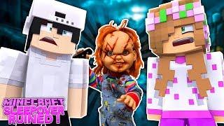 CHUCKY RUINS LITTLE KELLY AND RAVENS SLEEPOVER! Minecraft Revenge