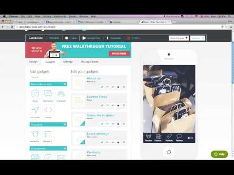 How to build your own business retail App Tutorial using Appsmakerstore  070915