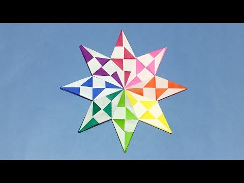 Awesome Origami Star | How to Make a Paper Diamond Star for Christmas Decoration