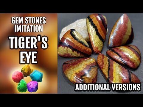 NEW Tiger's Eye Stone Imitation - 2nd video with another versions on how to do!