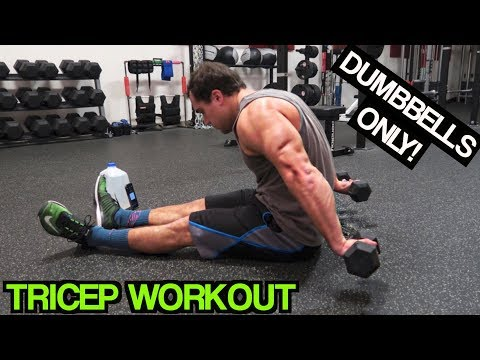 Intense 5 Minute Dumbbell Tricep Workout #2