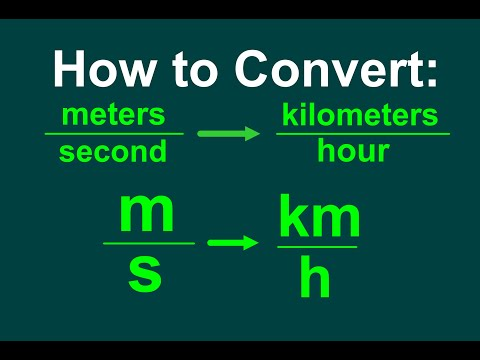 Converting m/s to km/h [EASY]