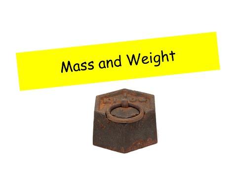 Mass and Weight - IGCSE Physics
