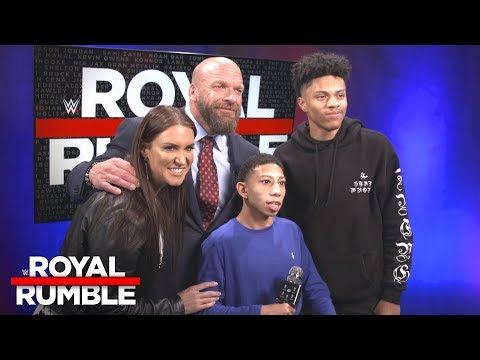 Stephanie McMahon & Triple H give a hero's welcome to two deserving fans: Exclusive, Jan. 28, 2018