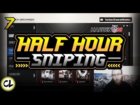 HALF HOUR SNIPING WITH TIPS! NO MONEY SPENT! Madden 18 Ultimate Team