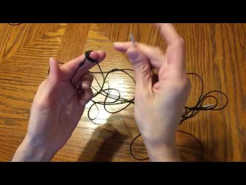 Starting the rosary - Step 3 - How to make a knotted rosary