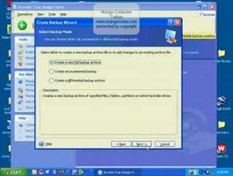Hard Drive Backup with Acronis True Image 11 Software