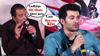 Dada Dharmendra & Pota Karan Deol's Back 2 Back Hilarious Moment  Pal Pal Dil Ke Paas Trailer Launch