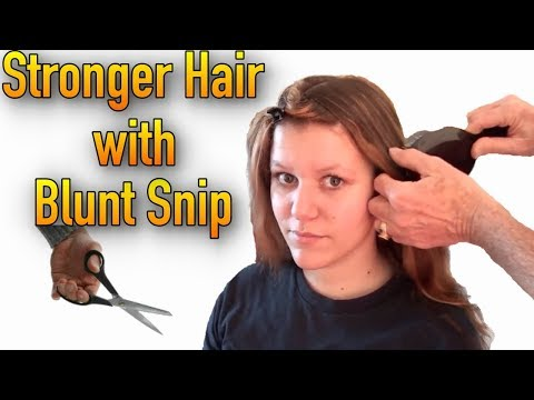Cut Your Hair With Blunt Snip for Stronger Hair   Tutorial