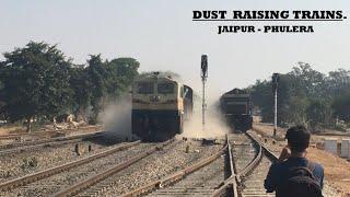 धुल उड़ाती तेज़ सुपरफास्ट ट्रेनें । Heavy Dust Storm Created By Superfast Trains   Indian Railways
