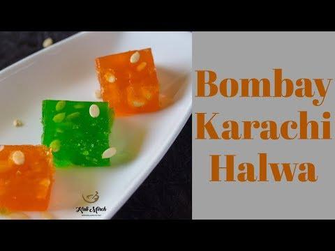 Bombay Karachi Halwa-Cornflour Halwa-Indian Microwave recipes-Kalimirchbysmita-Ep308