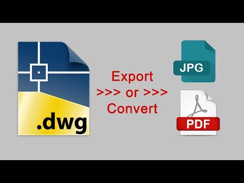 How to export autocad to pdf, jpg