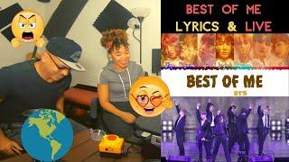 BTS Best Of Me Lyrics And Live Performance KITO ABASHI REACTION