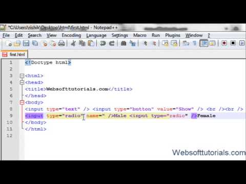 html and css in hindi / urdu Tutorial - 14 - textboxes. radio buttons, checkboxes in html