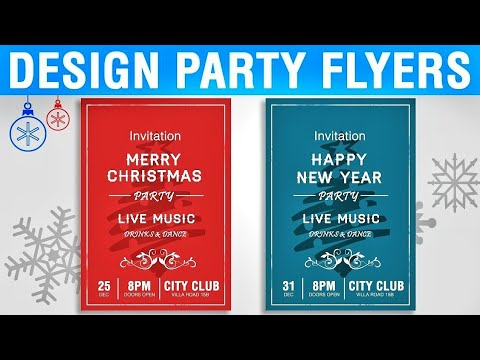 How to Design Party Flyers in Photoshop CC, CS6 | Photoshop Party Flyer Design