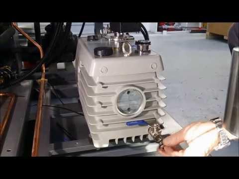 Oil Change on a Vacuum Pump - Cuddon FD80