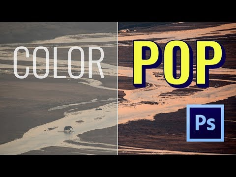 How to make COLOR POP in Photoshop     Quick LAB color mode tutorial     Vlog S01E05
