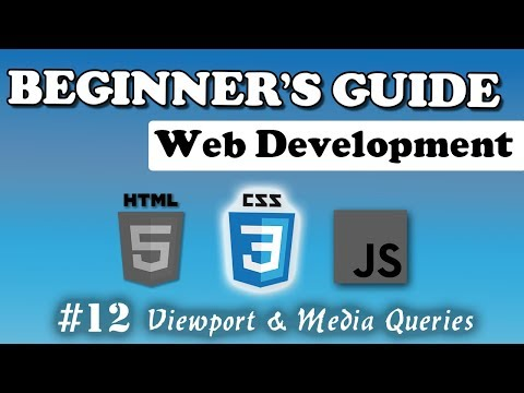 CSS - Media Queries & Viewport | Beginner's Course | #12