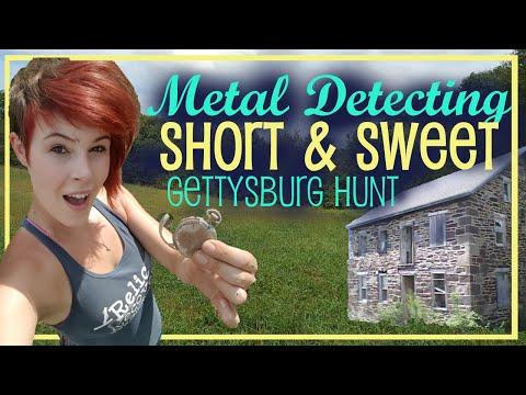 Short & Sweet Hunt in Gettysburg - Metal Detecting Private Property
