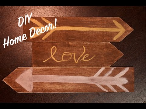 How To: DIY Vintage Wood Accent Home Decor