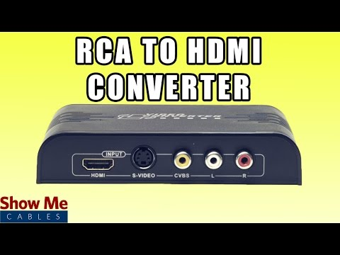 RCA and S-Video to HDMI Converter - Save Older Video Equipment by Converting to HDMI #47-300-001