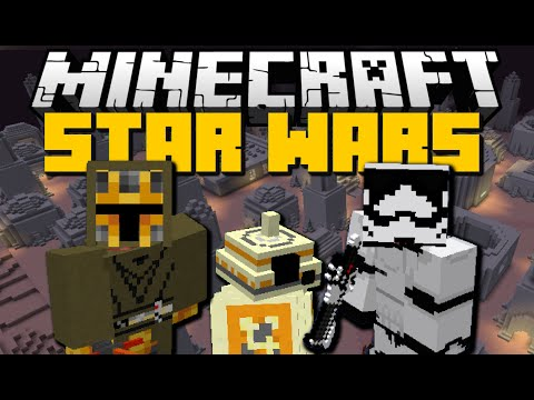 Minecraft: STAR WARS MOD (Lightsabers, Flying Vehicles, Blasters & More) Mod Showcase