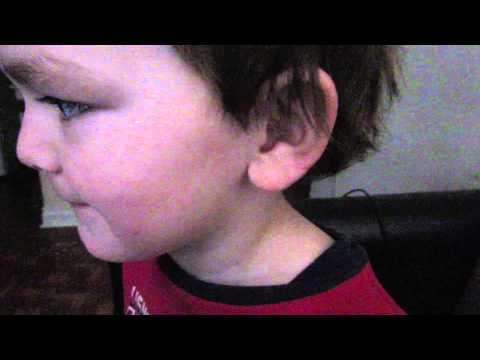 Danish age 3 saying the alphabet backwards. Smart boy.
