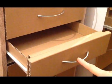 How to make a cardboard drawer (corrugated cardboard furniture)