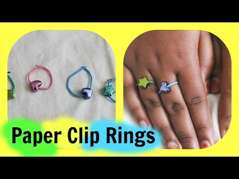 How to make VERY easy paper clip rings