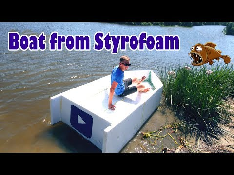 Boat from Styrofoam and filling foam | How to make a boat from Styrofoam and filling foam- DIY