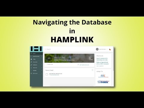 Navigating the Database in Hamplink